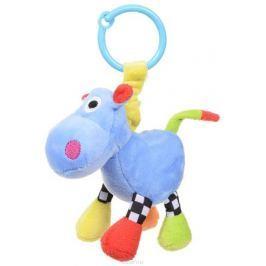 Canpol Babies Игрушка подвесная с погремушкой Сумасшедшие животные Бегемот цвет синий