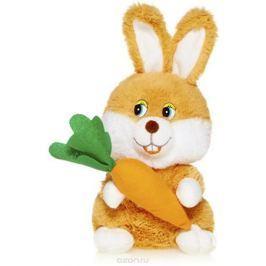 Maxitoys Мягкая озвученная игрушка Зайка с морковкой 20 см