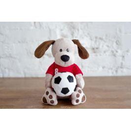 Плюш Ленд Мягкая игрушка Собака с мячиком 25 см