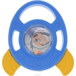 Пластмастер Погремушка-грызунок Ракета цвет голубой