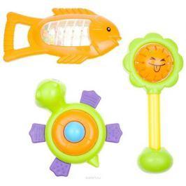 Mioshi Игровой набор Первая игрушка Солнышко Рыбка Черепашка цвет салатовый оранжевый