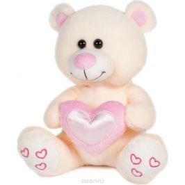 Maxitoys Мягкая игрушка Мишка Влюбленный цвет бежевый 22 см