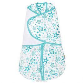 GlorYes! Спальный мешок 2 в 1 Голубые звезды 3-9 месяцев