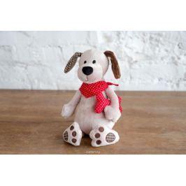 Плюш Ленд Мягкая игрушка Собака с косточкой 25 см