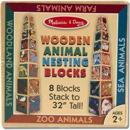 Melissa & Doug Обучающая игра Деревянные кубики Животные