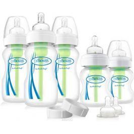 Dr.Brown's Набор антиколиковых бутылочек с широким горлышком 3 шт по 270 мл и 2 шт по 150 мл