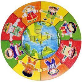 Фабрика Мастер игрушек Пазл для малышей Народы мира