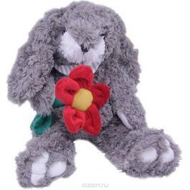 Magic Bear Toys Мягкая игрушка Заяц Гарольд с цветком 26 см