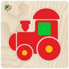 Фабрика Мастер игрушек Рамка-вкладыш Пирамидка-паровозик