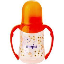 Mepsi Бутылочка для кормления с ручками с силиконовой соской от 4 месяцев 125 мл