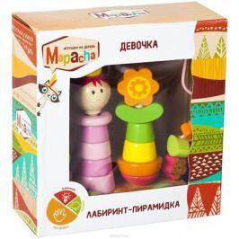 Mapacha Лабиринт-пирамидка Девочка на колесиках