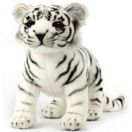 Hansa Мягкая игрушка Тигренок стоящий цвет белый