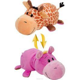 1TOYМягкая игрушкаВывернушка 2в1 Жираф-Бегемот 40 см