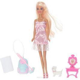 ToysLab Кукла Ася Блондинка в розовом платье с пылесосом 28 см