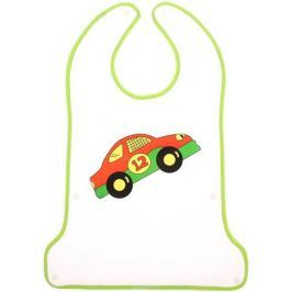 Крошка Я Нагрудник с карманом на липучке цвет зеленый