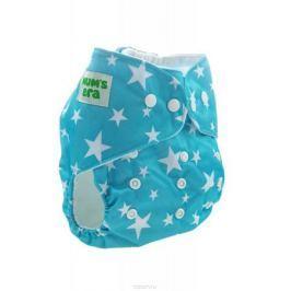 Mum's Era Многоразовый подгузник Звездочки 3-13 кг цвет бирюзовый + один вкладыш