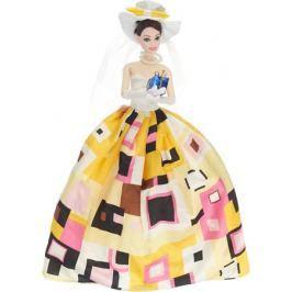 JUNnew Кукла со шляпкой и подарком цвет платья желтый