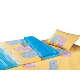 Постельное белье Облачко Слоники (детский КПБ, наволочки 40х60)