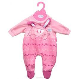 Zapf Creation Одежда для куклы BABY born 824-566, цвет: розовый