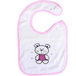 Крошка Я Нагрудник на липучке Мишки цвет розовый