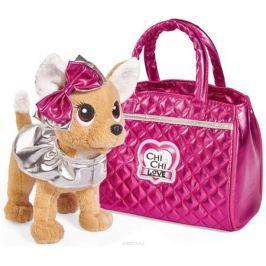 Simba Мягкая игрушка Собачка Chi-Chi love Гламур сумочкой и бантом 20 см