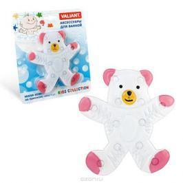 Valiant Набор мини-ковриков для ванной комнаты Мишка на присосках 4 шт
