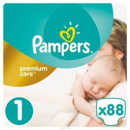 Pampers Подгузники Premium Care 2-5 кг (размер 1) 88 шт