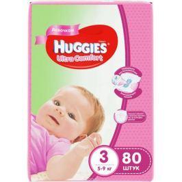 Huggies Подгузники для девочек Ultra Comfort 5-9 кг (размер 3) 80 шт