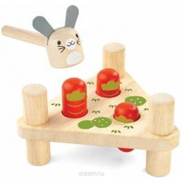 Plan Toys Забивалка Зайчик и морковки