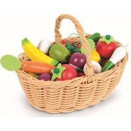 Janod Набор овощей и фруктов в корзинке 24 предмета Сюжетно-ролевые игрушки