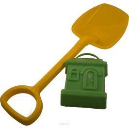 Новокузнецкий завод пластмасс Лопатка 48 см + формочка Домик цвет желтый зеленый Игрушки для песочницы