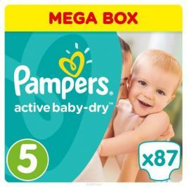 Pampers Подгузники Active Baby-Dry 11-18 кг (размер 5) 87 шт
