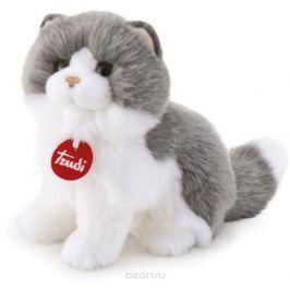 Trudi Мягкая игрушка Серо-белая кошка Клотильда сидячая 24 см Мягкие игрушки