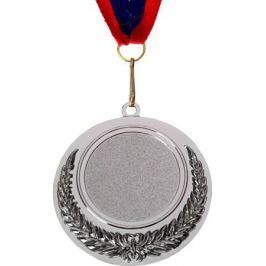 Медаль сувенирная с местом для гравировки, цвет: серебристый, диаметр 6,5 см. 008