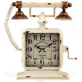 Часы настольные, цвет: белый, 24 х 8 х 27 см . 29653