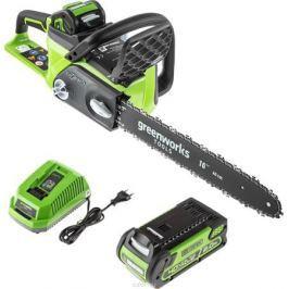 Пила цепная Greenworks 40V б/щ (с аккумуляторной батареей и зарядным устройством) 20077UA