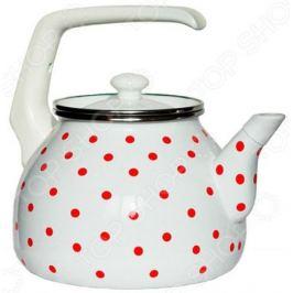 Чайник эмалированный Interos 6009 «Горошек»
