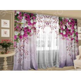 Фотокомплект штор и тюля ТамиТекс «Баланс цветов»