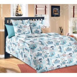 Детский комплект постельного белья Бамбино «Кораблики»