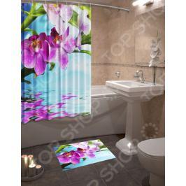 Набор для ванной комнаты: шторка и коврик ТамиТекс «Донна»