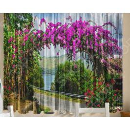 Комплект тюля ТамиТекс «Цветочная арка»
