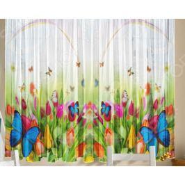 Комплект тюля ТамиТекс «Бабочки»