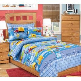 Детский комплект постельного белья Бамбино «Машинки»