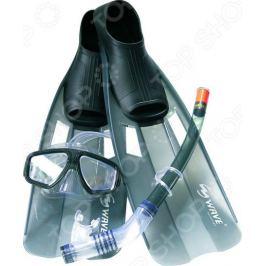 Набор из маски, трубки и ласт WAWE Mask Snorkel Fins