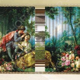 Комплект фотоштор с тюлем «Весна»