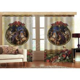 Комплект фотоштор с тюлем «Рождество» 16-1252-1