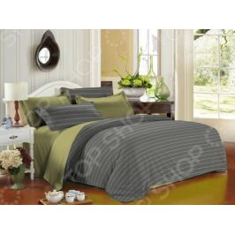 Комплект постельного белья La Noche Del Amor А-543. Цвет: серый, оливковый