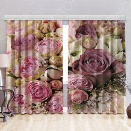 Фототюль «Цветочный аромат». Рисунок: цветочный микс
