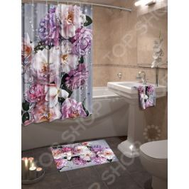 Набор для ванной комнаты: шторка и коврик ТамиТекс «Гармония»