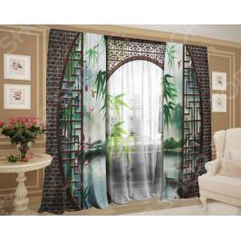 Фотокомплект штор и тюля ТамиТекс «Ворота Шантри»